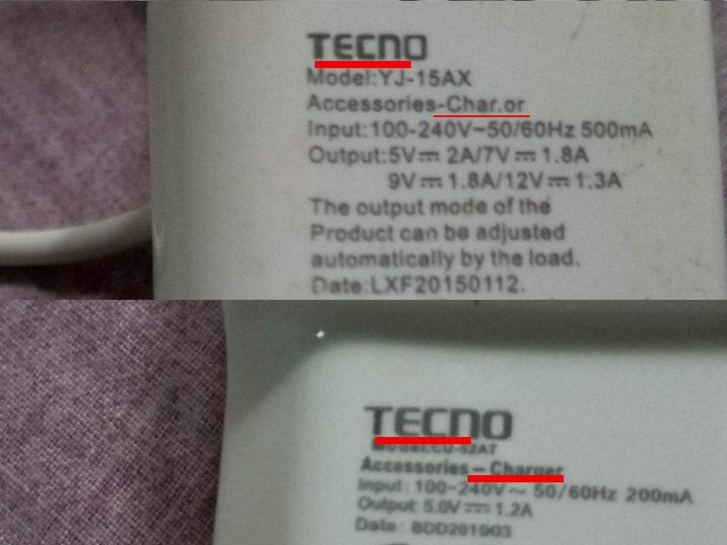 Quelques indices pour reconnaître une copie de chargeur Tecno, A Unix Mind In A Windows World